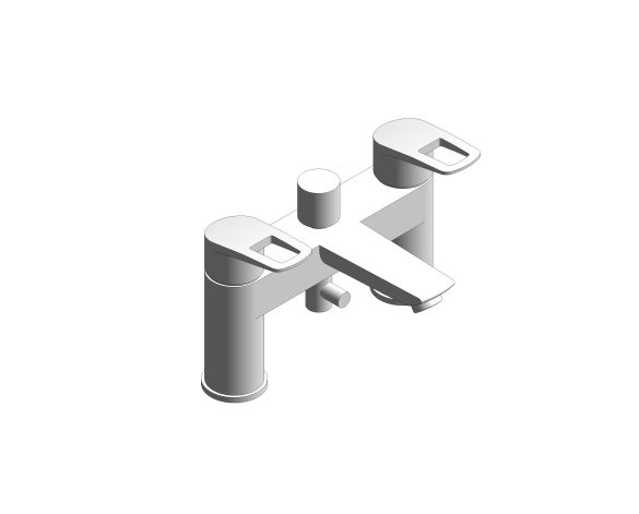 Product: Grohe BauLoop - 2hdl bath 2-h UK - 25232001