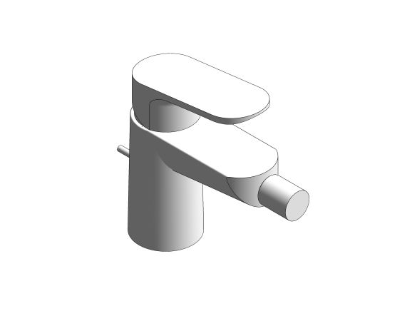 bimstore 3D image of the BauLoop Bidet Mixer - 23338000 from Grohe
