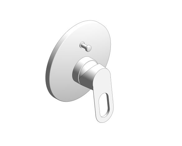 bimstore 3D image of the BauLoop Single Lever Bath Shower Mixer - 29081000 from Grohe