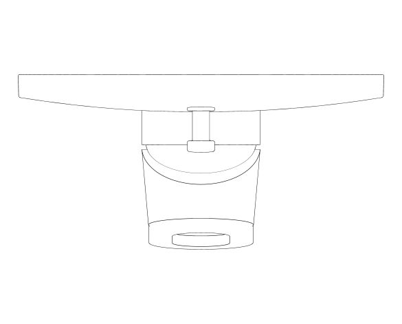 bimstore plan image of the BauLoop Single Lever Bath Shower Mixer - 29081000 from Grohe