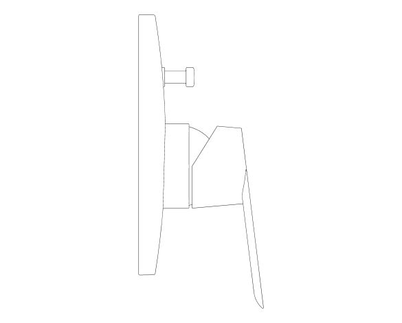 bimstore side image of the BauLoop Single Lever Bath Shower Mixer - 29081000 from Grohe