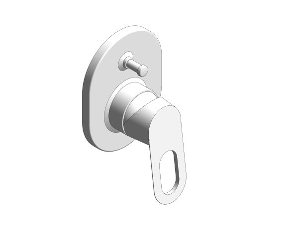 bimstore 3D image of the BauLoop Single Lever Bath Mixer - 29041000 from Grohe