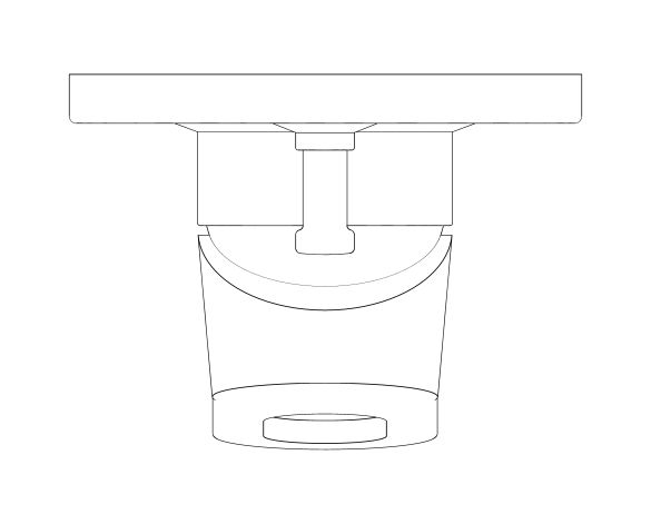 bimstore plan image of the BauLoop Single Lever Bath Mixer - 29041000 from Grohe