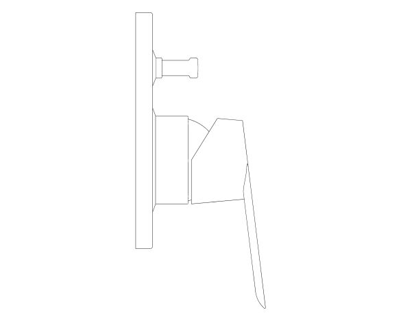 bimstore side image of the BauLoop Single Lever Bath Mixer - 29041000 from Grohe