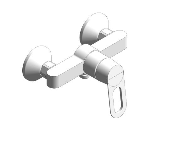bimstore 3D image of the BauLoop Single Lever Shower Mixer - 23634000 from Grohe