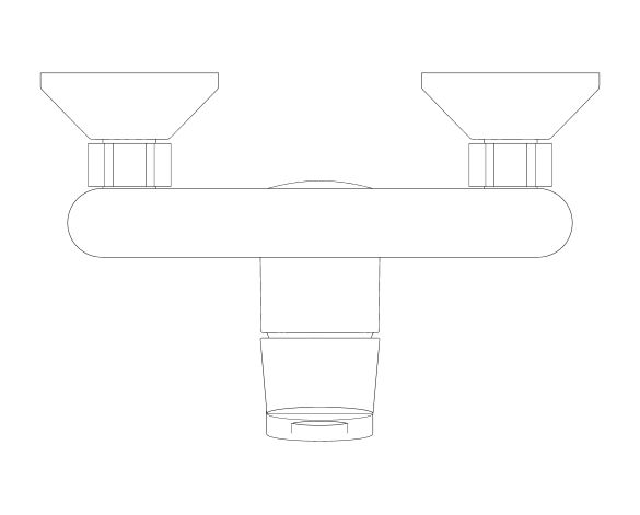 bimstore plan image of the BauLoop Single Lever Shower Mixer - 23634000 from Grohe
