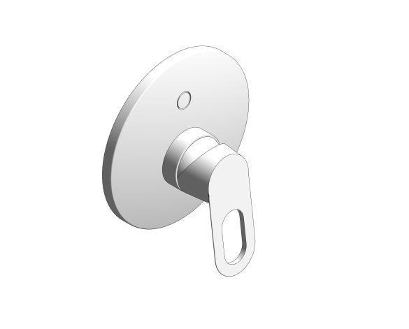 bimstore 3D image of the BauLoop Single Lever Shower Mixer - 29080000 from Grohe