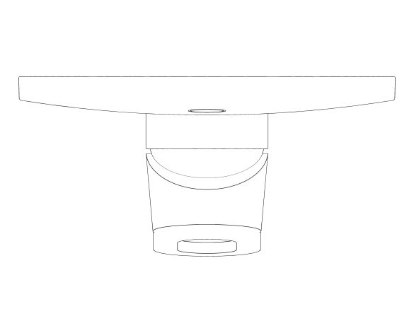 bimstore plan image of the BauLoop Single Lever Shower Mixer - 29080000 from Grohe
