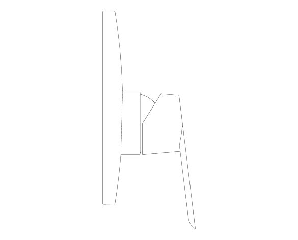 bimstore side image of the BauLoop Single Lever Shower Mixer - 29080000 from Grohe
