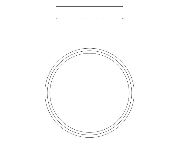 bimstore plan image of the Essentials Glass Soap Dish Holder - 40369001 from Grohe