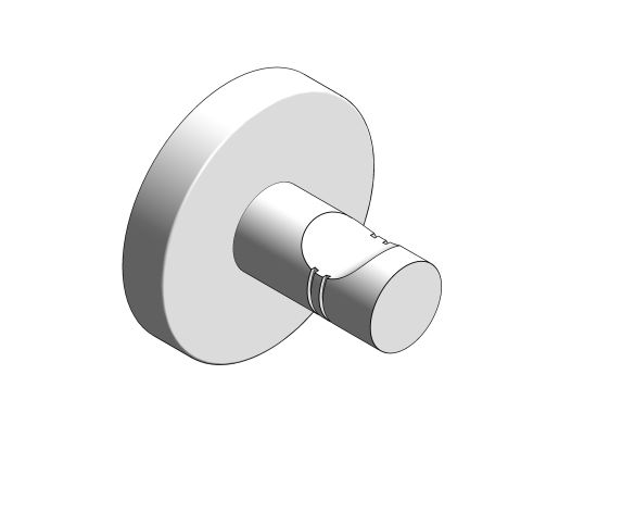 bimstore 3D image of the Essentials Robe Hook - 40364001 from Grohe
