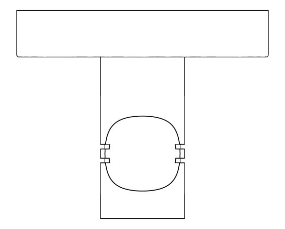 bimstore plan image of the Essentials Robe Hook - 40364001 from Grohe