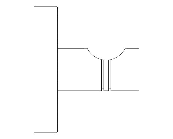 bimstore side image of the Essentials Robe Hook - 40364001 from Grohe