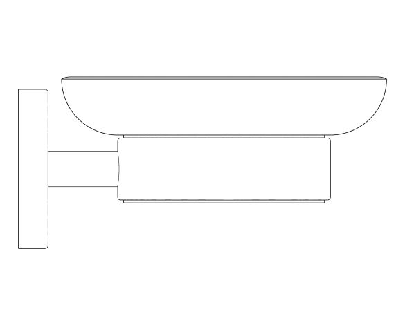 bimstore side image of the Essentials Soap Dish - 40368001 from Grohe