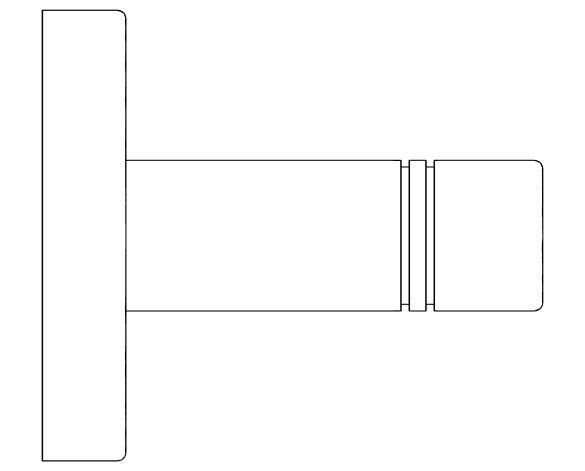 bimstore side image of the Essentials Towel Rail - 40366001 from Grohe