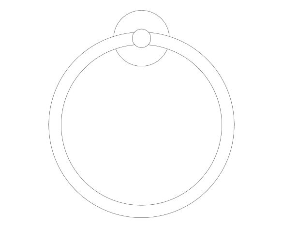 bimstore front image of the Essentials Towel Ring - 40365001 from Grohe