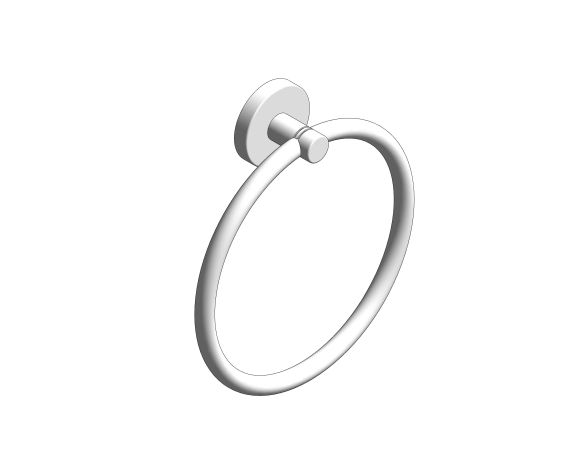 bimstore 3D image of the Essentials Towel Ring - 40365001 from Grohe