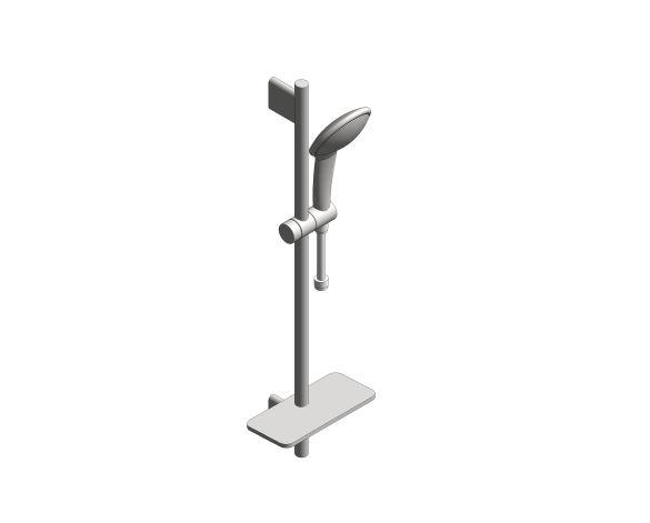 bimstore 3D image of the Euphoria Champagne 110 Shower Rail Set 600 - 26624000 from Grohe