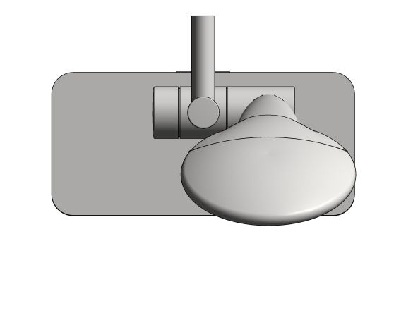bimstore plan image of the Euphoria Champagne 110 Shower Rail Set 600 - 26624000 from Grohe