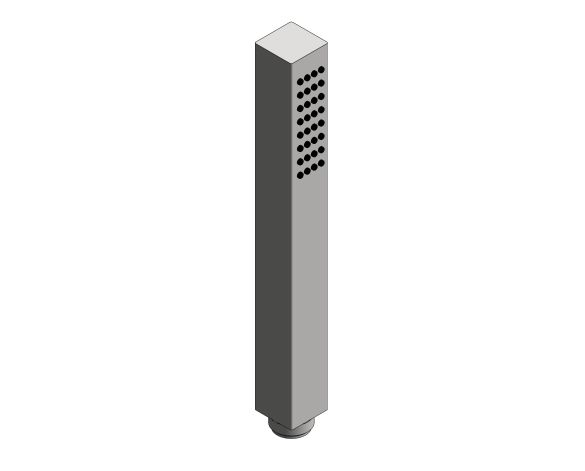 bimstore 3D image of the Euphoria - Cube Stick Metal Handshower - 27888000 from Grohe