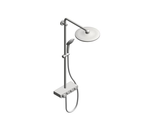 bimstore 3D image of the Euphoria - Smart Control 310 Duo Shower System - 26507000 from Grohe
