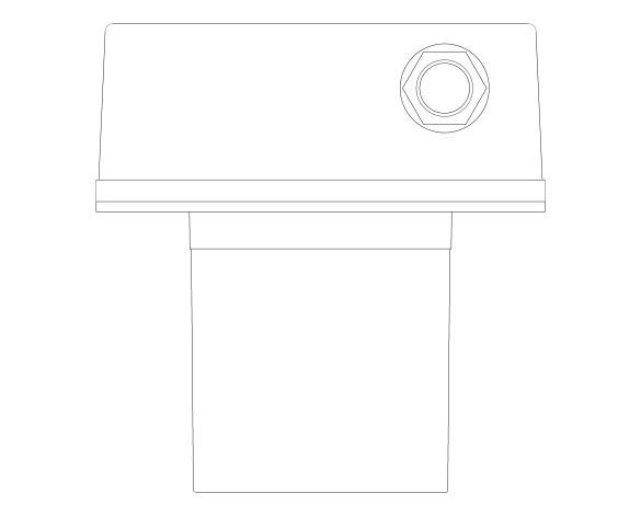 bimstore plan image of the Euroeco Cosmopolitan E Concealed Mounting Box - 36337001 from Grohe