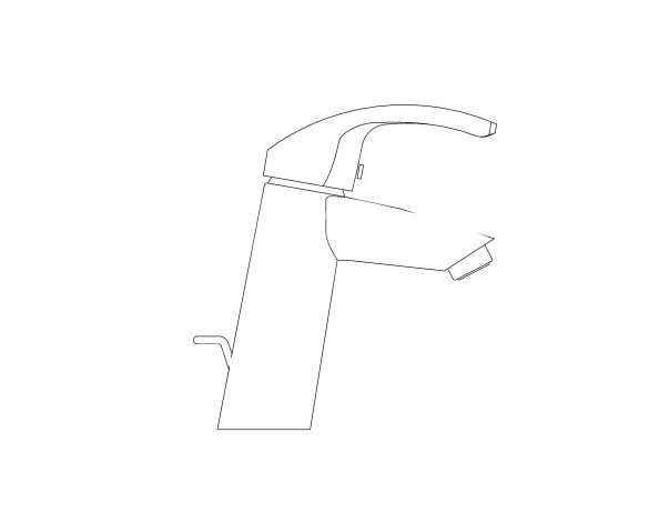 bimstore side image of the Eurosmart Basin Mixer M Size - 23322001 from Grohe