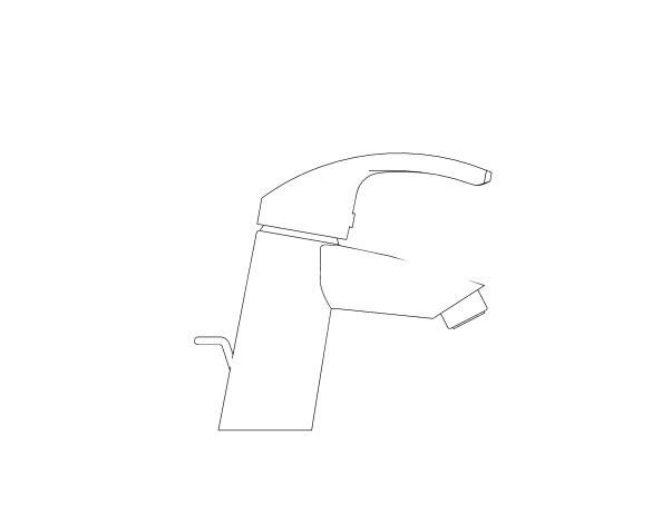 bimstore side image of the Eurosmart Basin Mixer S Size - 23924002 from Grohe