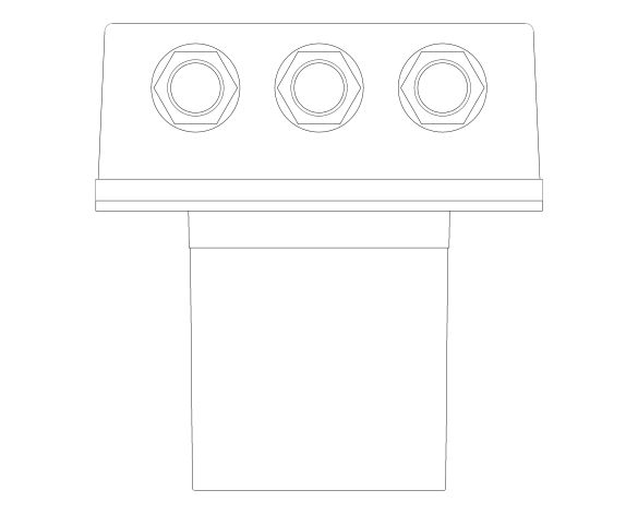 bimstore plan image of the Eurosmart Cosmopolitan E Concealed Body - 36464000 from Grohe