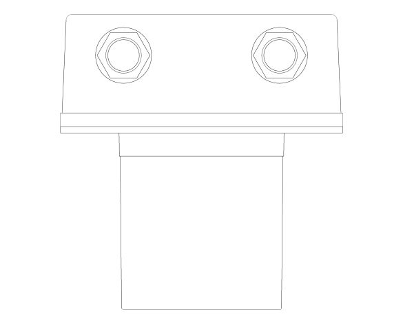 bimstore plan image of the Eurosmart Cosmopolitan E Concealed Mounting Box - 36336001 from Grohe