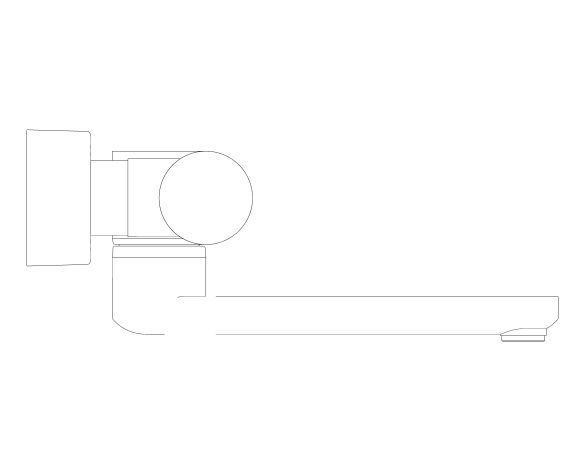 """bimstore side image of the Eurosmart Cosmopolitan E Special Infra-Red Electronic Wall Basin Mixer With Thermostatic Temperature Control 1/2"""" M-Size - 36455000 from Grohe"""