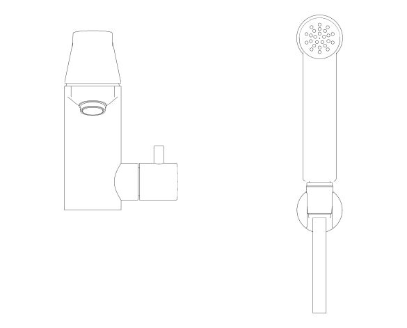 """bimstore front image of the Eurosmart Cosmopolitan Single Lever Basin Mixer 1/2"""" - 23950000 from Grohe"""