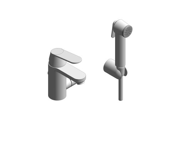 """bimstore 3D image of the Eurosmart Cosmopolitan Single Lever Basin Mixer 1/2"""" - 23950000 from Grohe"""
