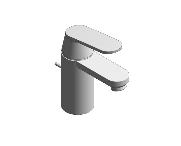 """bimstore 3D image of the Eurosmart Cosmopolitan Single Lever Basin Mixer 1/2"""" S-Size - 23952000 from Grohe"""