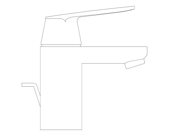 """bimstore side image of the Eurosmart Cosmopolitan Single Lever Basin Mixer 1/2"""" S-Size - 23952000 from Grohe"""