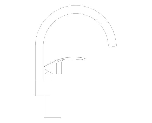 bimstore side image of the Eurosmart Kitchen Faucet - 31789000 from Grohe