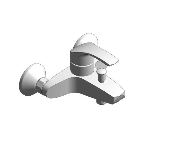 """bimstore 3D image of the Eurosmart Single Lever Bath Mixer 1/2"""" - 23948002 from Grohe"""
