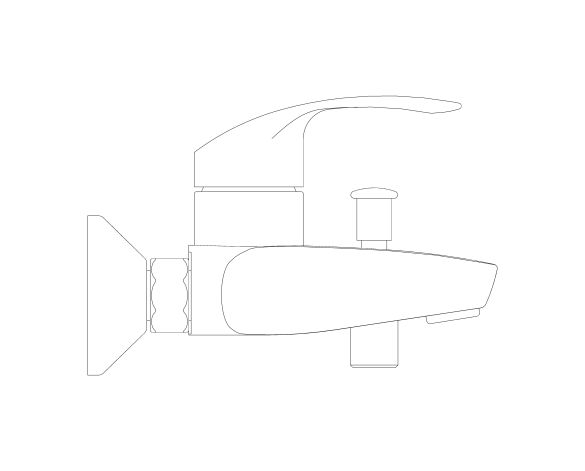 """bimstore side image of the Eurosmart Single Lever Bath Mixer 1/2"""" - 23948002 from Grohe"""