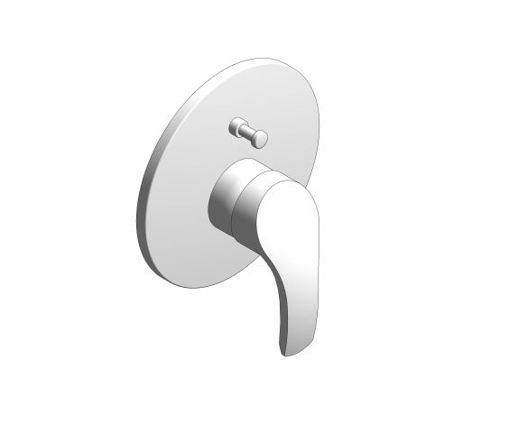 bimstore 3D image of the Eurosmart Single Lever Bath Shower Mixer Trim - 19450002 from Grohe
