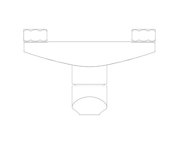 "bimstore plan image of the Eurosmart Single Lever Shower Mixer 1/2"" - 23949002 from Grohe"