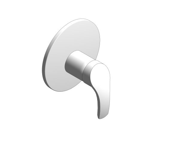 bimstore 3D image of the Eurosmart Single Lever Shower Mixer Trim - 19451002 from Grohe