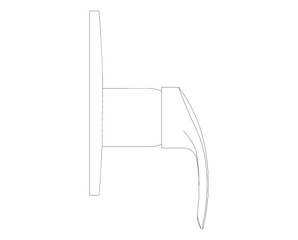bimstore side image of the Eurosmart Single Lever Shower Mixer Trim - 19451002 from Grohe