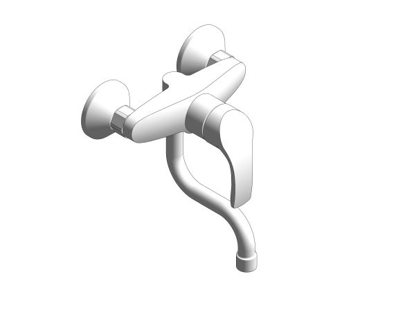 bimstore 3D image of the Eurosmart Single Lever Sink Mixer - 31509002 from Grohe