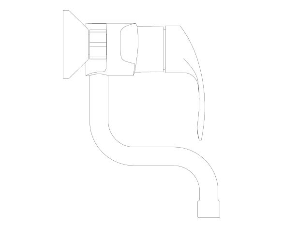 bimstore side image of the Eurosmart Single Lever Sink Mixer - 31509002 from Grohe