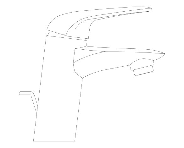bimstore side image of the Eurostyle Basin Mixer S Size - 23709003 from Grohe