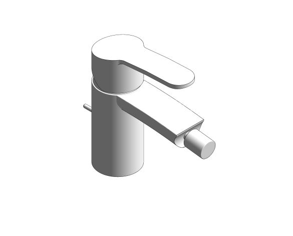 bimstore 3D image of the Eurostyle Cosmopolitan Bidet Mixer S Size - 33565002 from Grohe