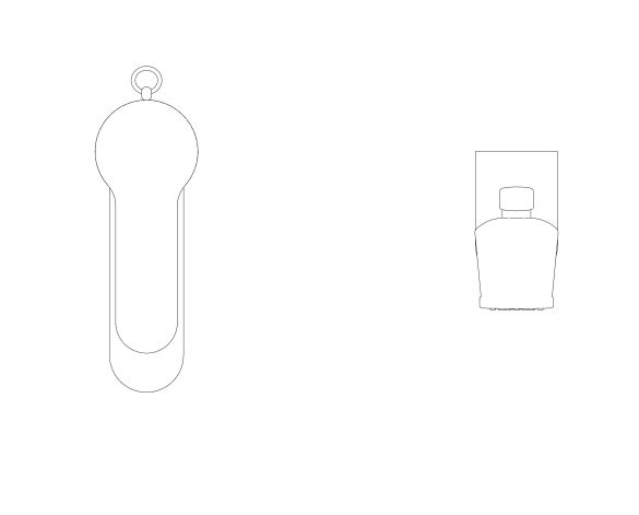 """bimstore plan image of the Eurosmart Cosmopolitan Single Lever Basin Mixer 1/2"""" S-Size - 23953003 from Grohe"""