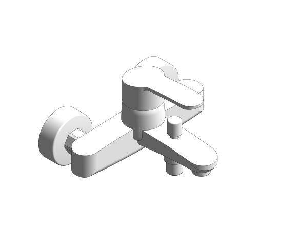 bimstore 3D image of the Eurostyle Cosmopolitan Single Lever Bath Shower Mixer - 33591002 from Grohe