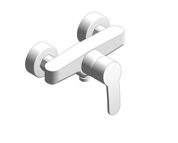 bimstore 3D image of the Eurostyle Cosmopolitan Single Lever Shower Mixer - 33590002 from Grohe