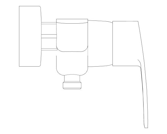 bimstore side image of the Eurostyle Cosmopolitan Single Lever Shower Mixer - 33590002 from Grohe